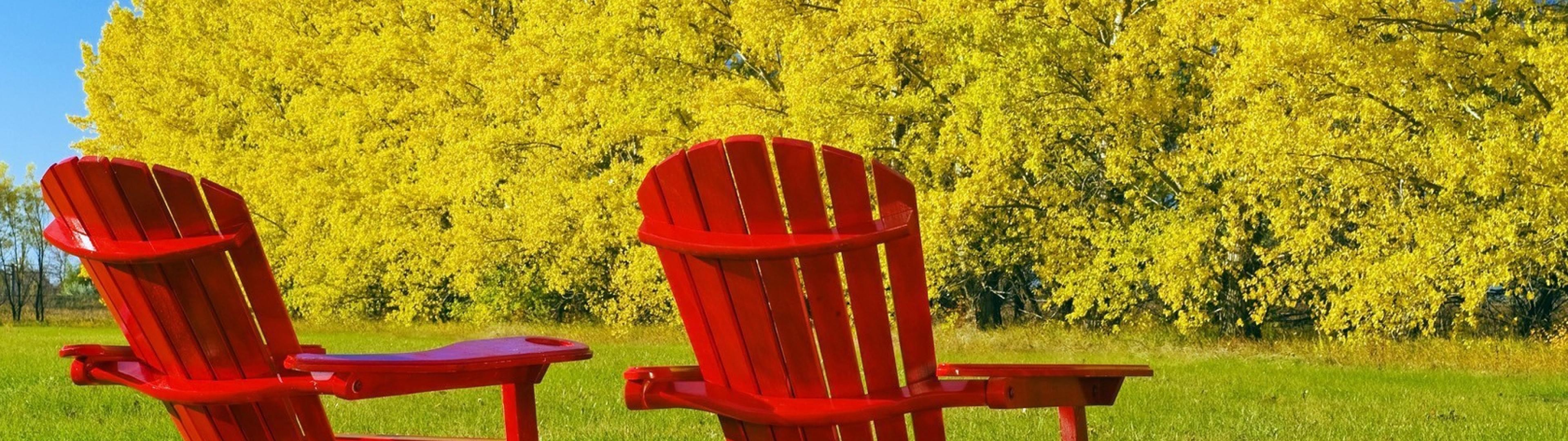 chairs_autumn_red_yellow_green_trees_wood_dual_3840x1080_hd-wallpaper-53935